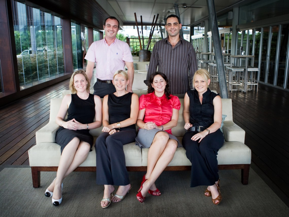 Young Chamber (Cairns Chamber of Commerce Taskforce) circa 2010 Back: Scott Pearson, Nick Bernabei  Front: Me, Karen Duffin, Louise Zupp, Andrea Ambrosio