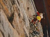 Rupert the bear goes a-climbing