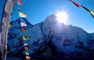 Sun rising over Mount Everest