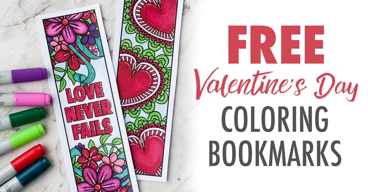 Free Printable Valentine S Day Coloring Bookmarks