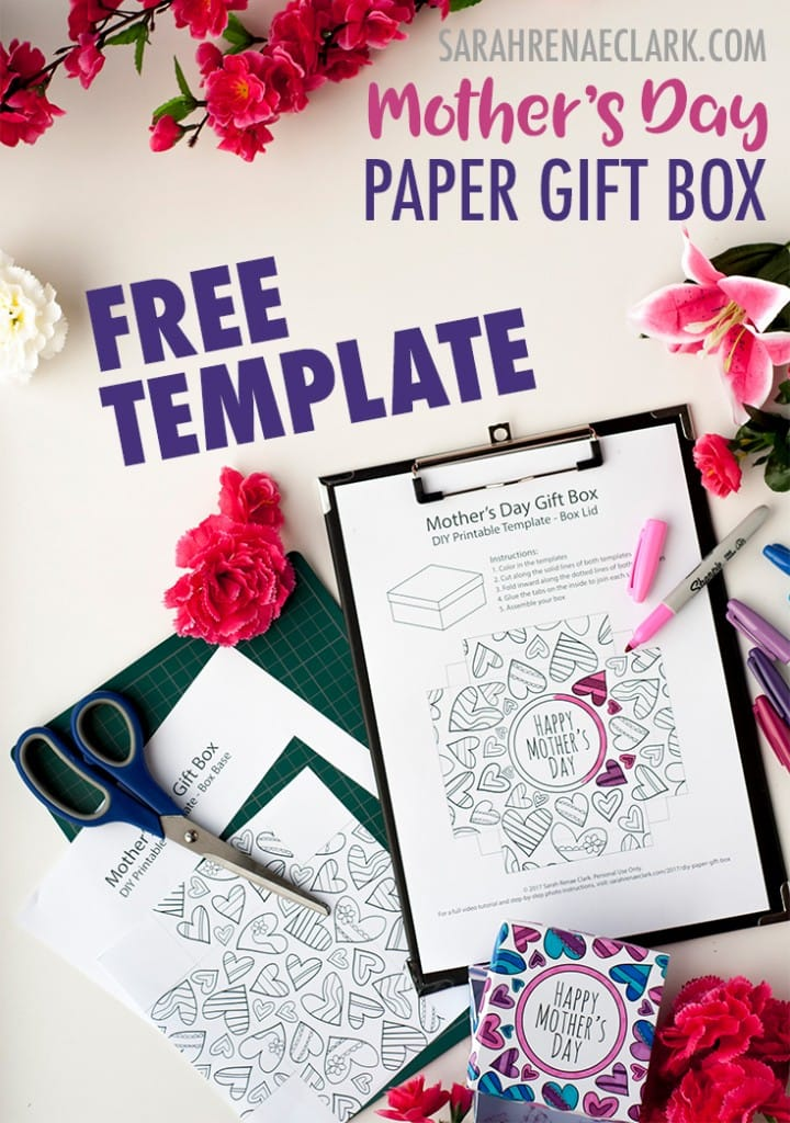 How To Make A Paper Gift Box Free Template For Mothers