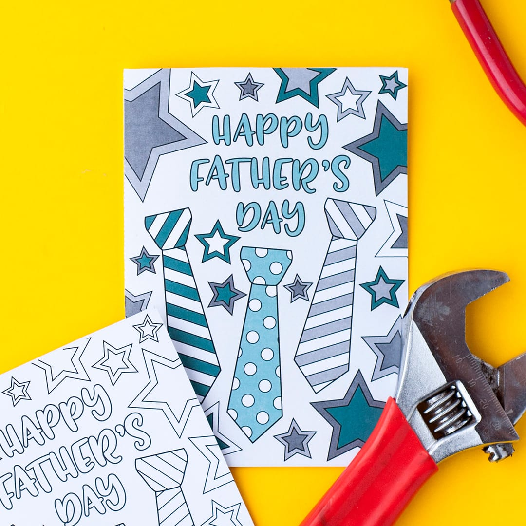 Free Father S Day Coloring Card