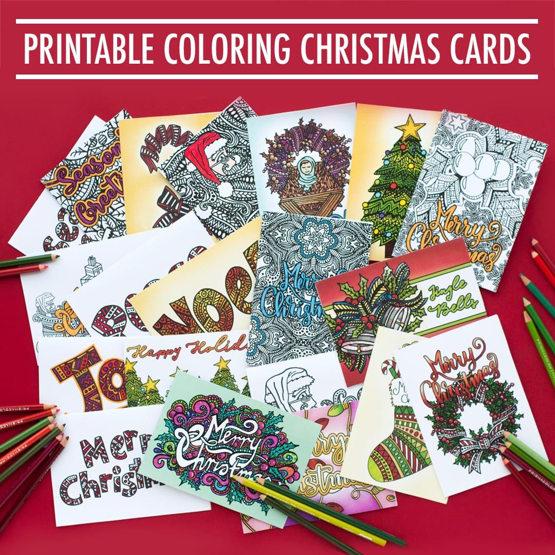 Christmas Cards | 20 Pack - Sarah Renae Clark - Coloring ...