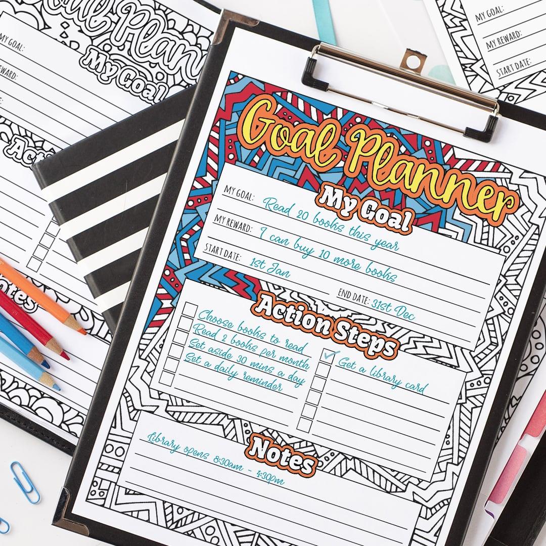 Goal Planner Printable 10 Pack