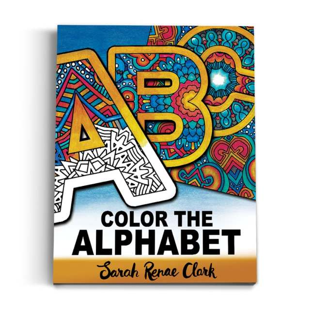 Color the Alphabet: Printable Adult Coloring Book