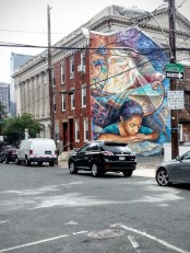 One of the city's many beautiful murals