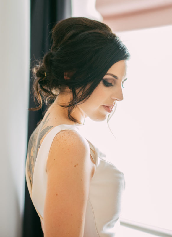 photo by dan walker photography - smokey bridal makeup west midlands