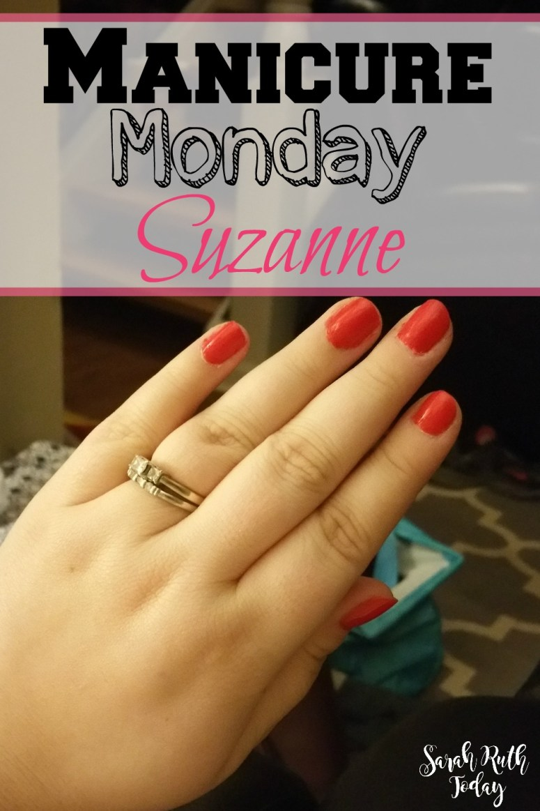 Manicure Monday Suzanne (Julep) I love this gorgeous red color with gold shimmer in it!