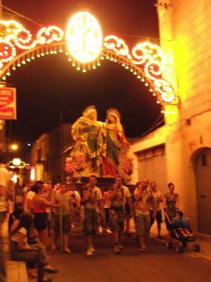 Gharb, Gozo, Malta, village, church, night, festa, festival, culture