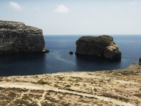 gozo, dwejra, malta, sea, rock, azure, travel, nature