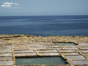 salt pans, marsalforn, gozo, malta, europe, sea