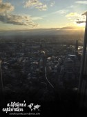 London, Shard, view, sunset