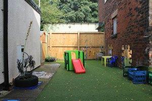 Babys grass area