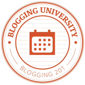 Blogging 201:  Back to school.  I can do this.