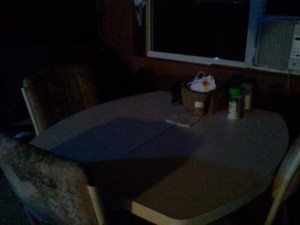 I keep the table clean and cleared all the time when Danny is NOT there