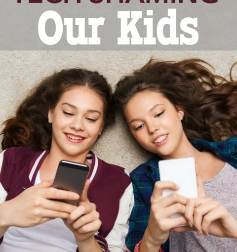 Why We Need to Stop Tech Shaming Our Kids / My Rant About It. Sarah Speaks Out