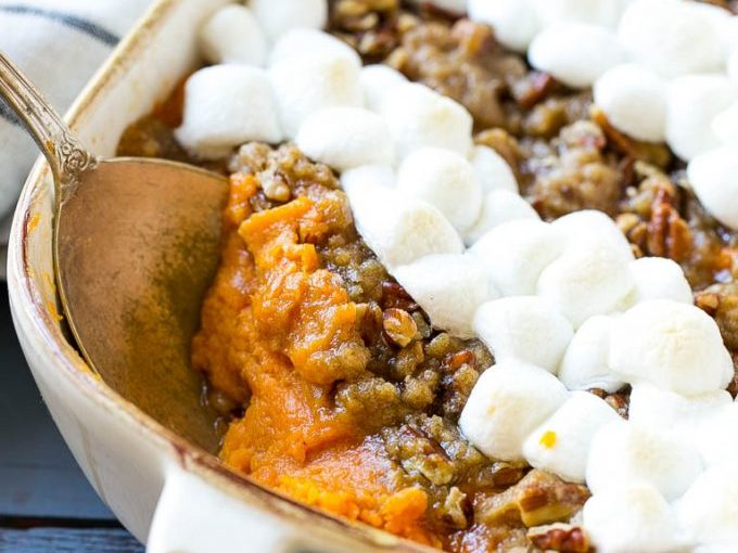 Sweet Potato Casserole with Marshmallows – Dinner at the Zoo