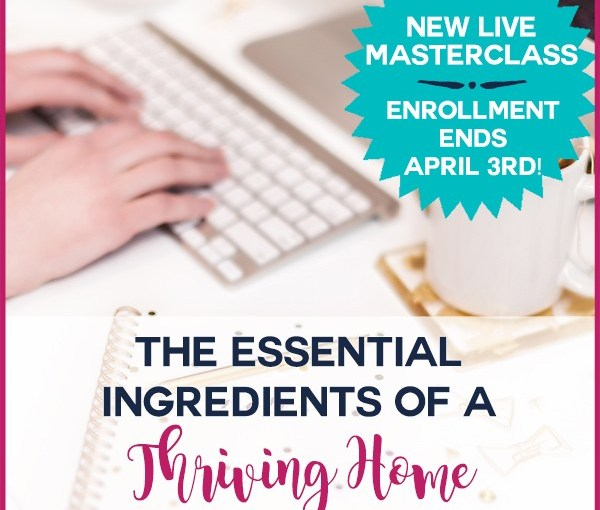 The Essential Ingredients of a Thriving Home (NEW LIVE Masterclass)!! – Young Wife's Guide
