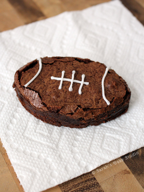 Football Brownies From Scratch