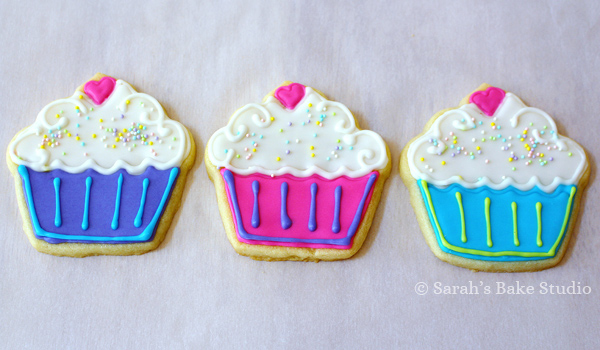 Thursday Things: Cupcake Decorated Cutout Cookies