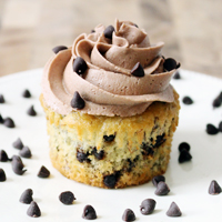 Banana Chocolate Chip Cupcakes with Chocolate Buttercream