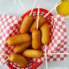 Homemade Mini Corn Dogs from Just A Taste