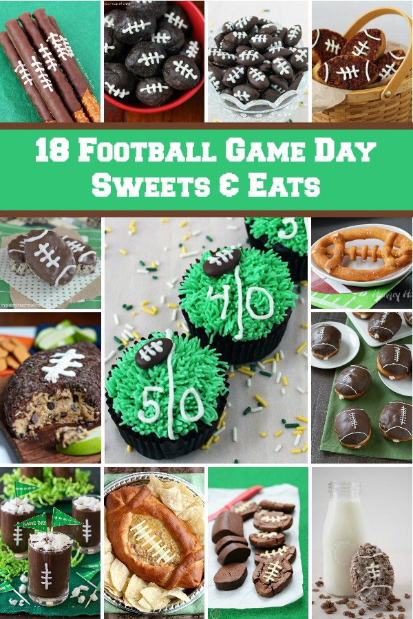 Are you ready for some football? 18 Football Game Day Sweets and Eats