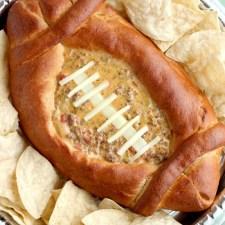 Football Dip Bowl from Dessert Now Dinner Later