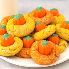 Peanut Butter Candy Pumpkin Blossoms