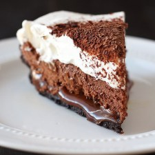 Chocolate Caramel French Silk Pie from Handle The Heat