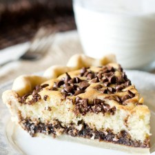 Chocolate Chip Funny Cake Pie from Tastes of Lizzy T's