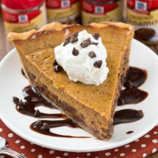 Chocolate Chip Pumpkin Pie from Crazy for Crust