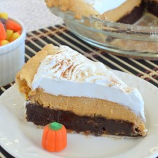 Pumpkin Cheesecake Brownie Pie from Inside BruCrew Life
