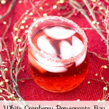 White Cranberry Pomegranate Fizz