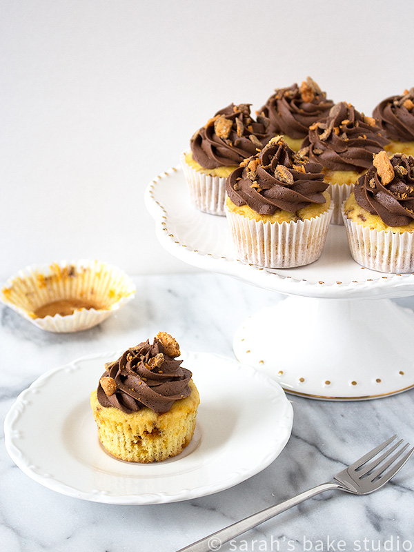 2016 Year in Review: Most Popular Recipes - Butterfinger Cupcakes
