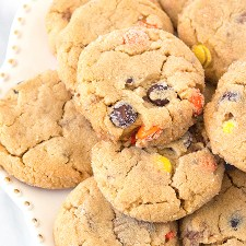 Loaded Reese's Peanut Butter Cookies