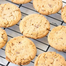 Peanut Butter Heath Cookies