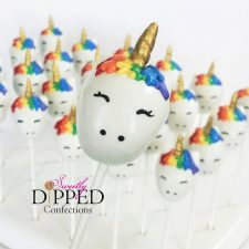 Unicorn Cake Pops from Sweetly Dipped Confections