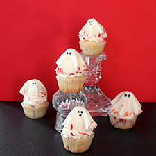 Little Bloody Ghosts Cupcakes from Pint Sized Baker
