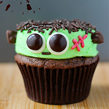 Frankenstein Cupcakes from Your Cup of Cake
