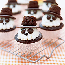 Skeleton Cupcakes from My Recipes