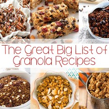 The Great Big List of Granola Recipes
