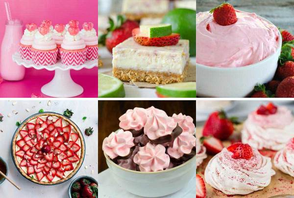 The Great Big List of Strawberry Desserts - a great big list of 160+ deliciously refreshing strawberry desserts.