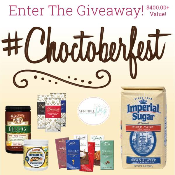 Happy #Choctoberfest 2018 with Imperial Sugar - a super chocolatey week filled with 200+ sweet and savory chocolate recipes from 100+ bloggers and a big #Choctoberfest prize pack giveaway.