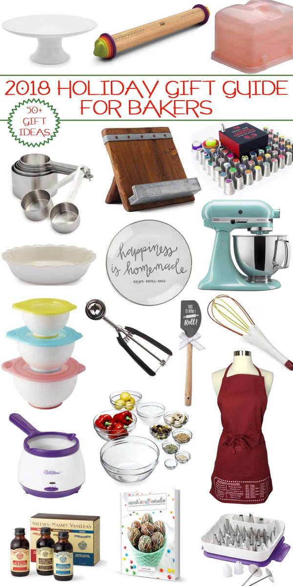 2018 Holiday Gift Guide For Bakers - your holiday gift guide packed with 50+ favorable gift ideas for bakers.