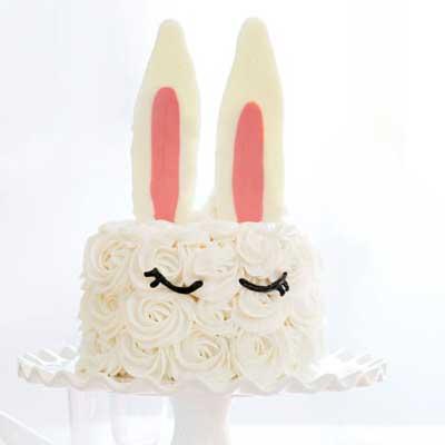 Bunny Ear Cake from I Am Baker