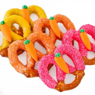 Salty Sweet Easter Pretzels from Love from the Oven