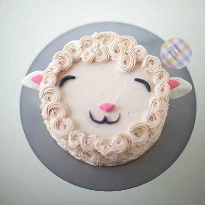 Fluffy Lamb Cake from Homemade Charlotte