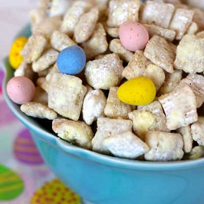 Lemon Cadbury Puppy Chow from Your Cup of Cake