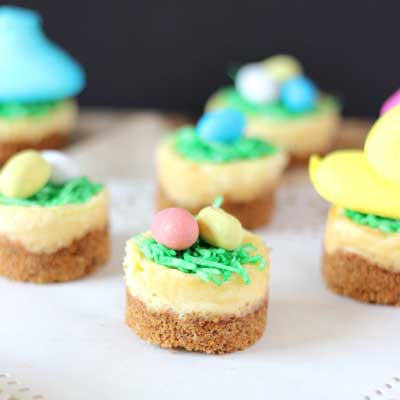 Mini Easter Cheesecakes from My Kitchen Craze